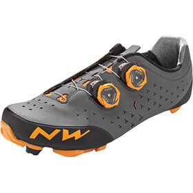 Northwave Rebel 2 Kengät Miehet, anthracite/orange
